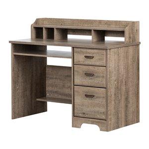 Table de poste de travail moderne/contemporain Versa de South Shore Furniture, 44,37 po, brun