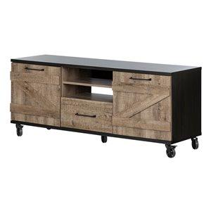 Meuble universel pour téléviseur avec roulettes Valet de South Shore Furniture, brun