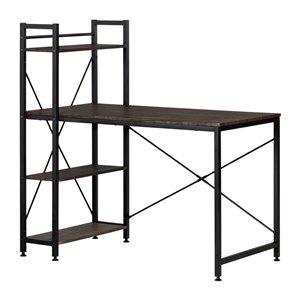 Table de poste de travail moderne/contemporain Evane de South Shore Furniture, 47,5 po, brun