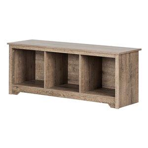 Banc de rangement décontracté Vito de South Shore Furniture, chêne gris