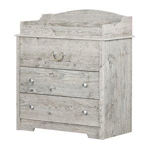 Table à langer avec tiroirs Aviron de South Shore Furniture 32,25 po, pin bord de mer