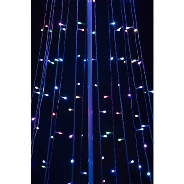 Hi-Line Gift 1-Pack 82.67-in H Freestanding Christmas Tree Light Display with Colour Changing LED