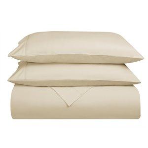 Swift Home Queen Microfibre 4-Piece Cream Bed Sheets