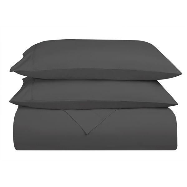 Ensemble de draps en microfibre Swift Home pour très grand lit, gris, 4 pièces