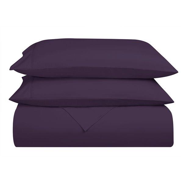 Ensemble de draps en microfibre Swift Home pour grand lit, mauve aubergine, 4 pièces