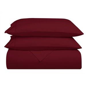 Ensemble de draps en microfibre Swift Home pour lit double, bourgogne, 4 pièces