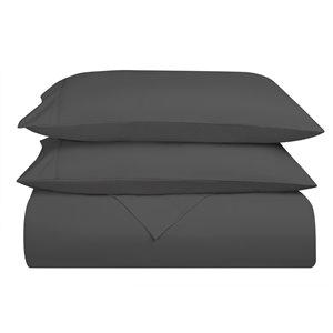 Ensemble de draps extra longs en microfibre Swift Home pour lit simple, gris, 4 pièces