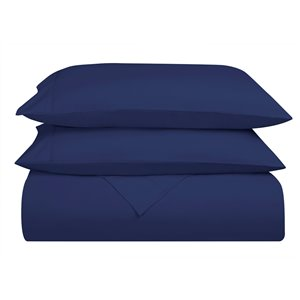 Swift Home Twin Extra-Long Microfibre 4-Piece Royal Blue Bed Sheets