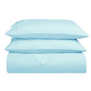 Ensemble de draps extra longs en microfibre Swift Home pour lit simple, cyan, 4 pièces