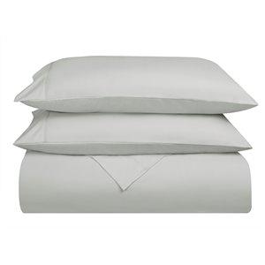 Ensemble de draps en microfibre Swift Home pour lit double, gris pâle, 4 pièces