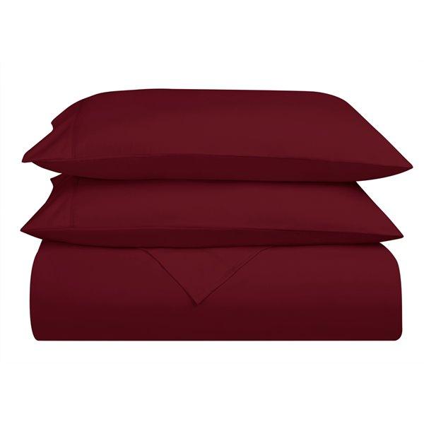 Ensemble de draps en microfibre Swift Home pour grand lit, bourgogne, 4 pièces