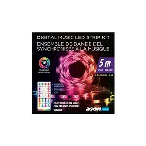 Bande lumineuse DEL synchronisée à la musiqueIP65 Ason Decor, 5 m