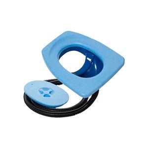 Toilette sèche compacte allongée bleue sans contact de 17 po Privy de Separett