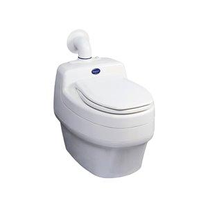 Toilette sèche compacte allongée blanche sans contact de 16,5 po Privy de Separett