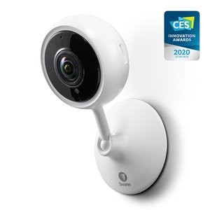 Caméra 1080p Wi-Fi intérieure Swann avec carte Micro SD 32 Go, blanc