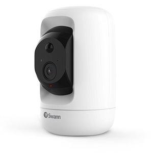 Caméra avec inclinaison Swann 1080p Gen 2 Pan et carte Micro SD de 32 Go, blanc