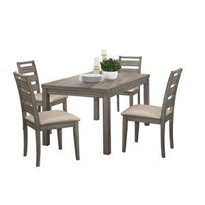 Ensemble de salle à manger Bainbridge gris vieilli avec table rectangulaire Mazin Furniture Industrials