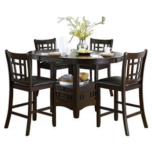 Ensemble de salle à manger Junipero cerise avec table ronde Mazin Furniture Industrials
