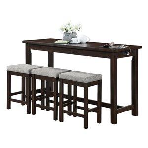 Ensemble de salle à manger Connected espresso avec table rectangulaire HomeTrend