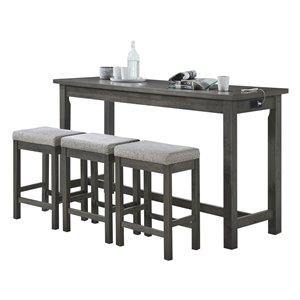 Ensemble de salle à manger Connected gris avec table rectangulaire HomeTrend