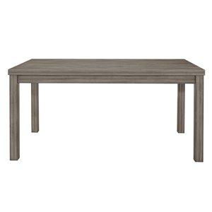Table standard Bainbridge (30 po) rectangulaire, gris vieilli, avec base grise en bois de HomeTrend