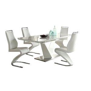Ensemble de salle à manger Manhattan blanc avec table rectangulaire, Mazin Furniture Industrials
