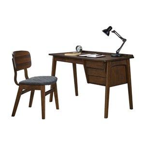 Bureau d'écriture Calix, moderne/contemporain, gris, 47,25 po, par HomeTrend