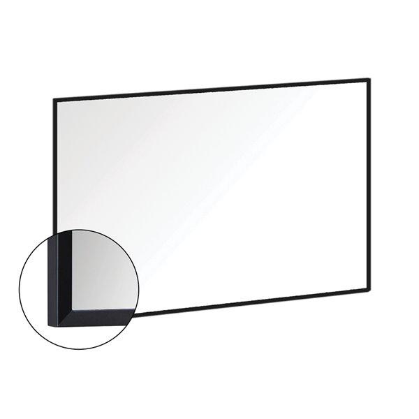Akuaplus Rectangular Mirror - 39-in x 28-in - Matte Black