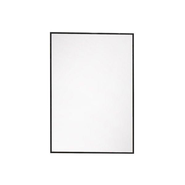 Akuaplus Rectangular Mirror - 19.6-in x 28-in - Matte Black