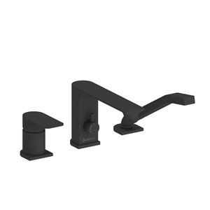Akuaplus Roman Bathtub Faucet with Hand Shower - 3 Pieces - Matte Black