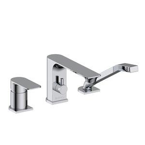 Akuaplus Roman Bathtub Faucet with Hand Shower - 3 Pieces - Chrome