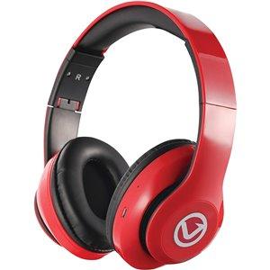 Écouteurs supra-auriculaires rouges de Volkano