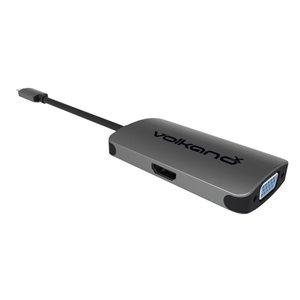 Adaptateur USB de type C à HDMI et VGA 0.5 pi de VolkanoX