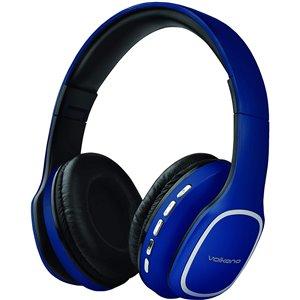 Écouteurs supra-auriculaires bleus de Volkano