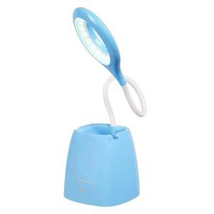 Lampe de bureau standard bleue Radiant Series 18,5 po ajustable avec interrupteur marche/arrêt de Volkano