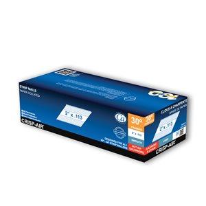 Clous de charpente en bande en acier galvanisé à chaud de 2 po et calibre 0,113 par Crisp-Air, pqt de 1000