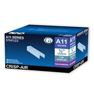Agrafes à crampe en bande de 1/2 po x 3/8 po x 3/8 po à couronne étroite par Crisp-Air, pqt de 5000