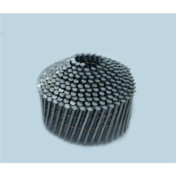 Clous de charpente en bande en acier galvanisé à chaud de 1 3/4 po et calibre de 0,83 15° par Crisp-Air, pqt de 3600