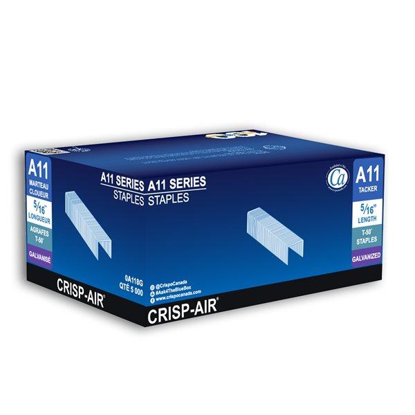 Agrafes à crampe en bande de 5/16 po x 3/8 po x 3/8 po à couronne étroite par Crisp-Air, pqt de 5000