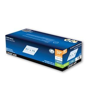 Clous de charpente en bande en acier brillant de 2 3/8 po et calibre 0,113 par Crisp-Air, pqt de 1000