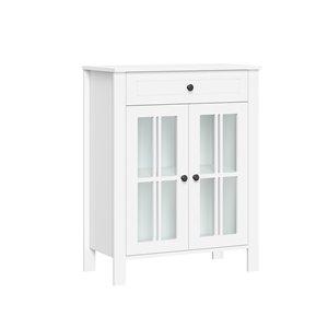 RiverRidge Home Danbury 23.5-in W x 30-in H x 11.75-in D White MDF Freestanding Linen Cabinet