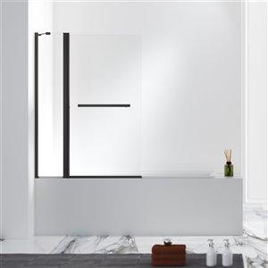 Panneau en verre transparent Jade Designer Series pour bain/douche 55 po x 40,5 po par Jade Bath