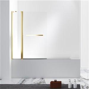 Panneau en verre transparent Jade Designer Series pour bain/douche 55 po x 40,5 po de Jade Bath