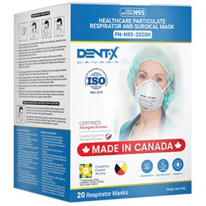 Dent-X FN-N95 20-Pack Disposable All-Purpose Surgical Mask