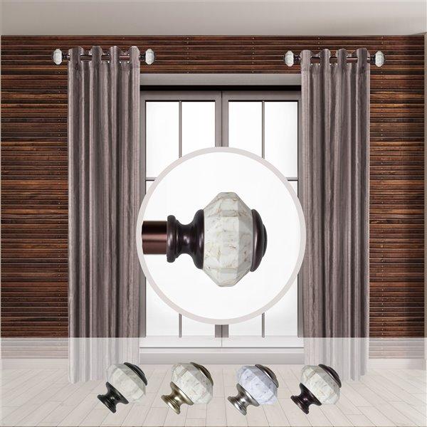 Tringle à rideaux simple en métal bronze Linden de Rod Desyne, 11 po à 20 po