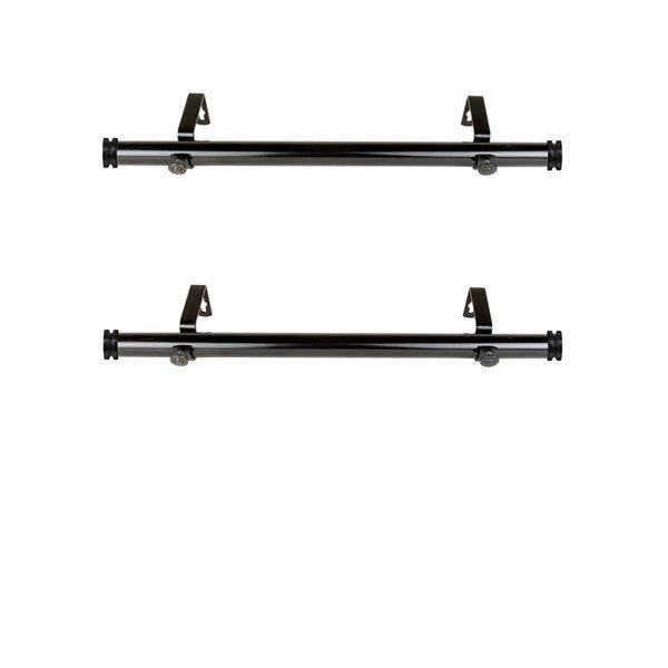 Tringle à rideaux simple en métal noir Bun de Rod Desyne, 11 po à 20 po