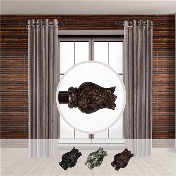 Tringle à rideaux simple en acier bronze de 11 à 20 po Verda de Rod Desyne