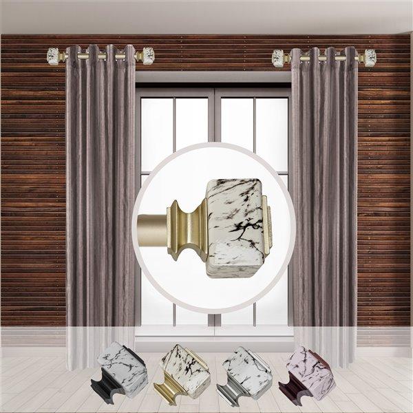 Tringle à rideaux simple en métal doré Willis de Rod Desyne, 11 po à 20 po