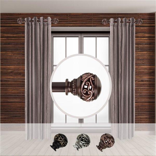 Tringle à rideaux simple en acier bronze de 11 à 20 po Isabella de Rod Desyne