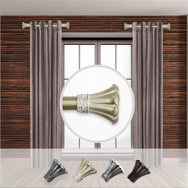 Tringle à rideaux simple en acier or de 11 à 20 po Blossom de Rod Desyne